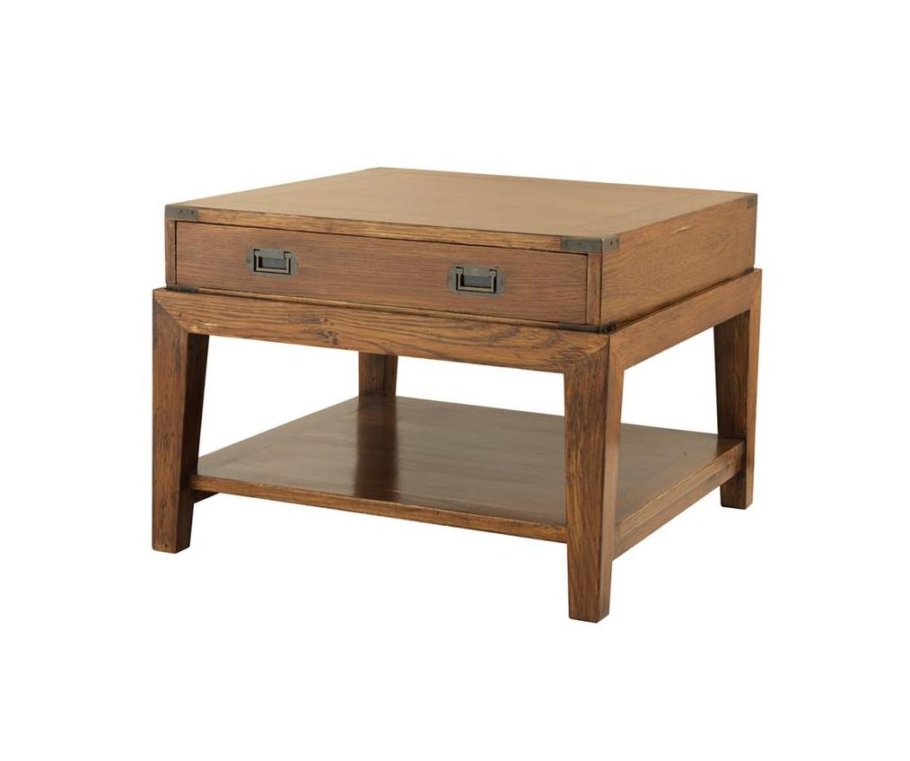 Столик Side Table MilitaryЖурнальные столики<br><br><br>Material: Дерево<br>Width см: 67,5<br>Depth см: 67,5<br>Height см: 50,5