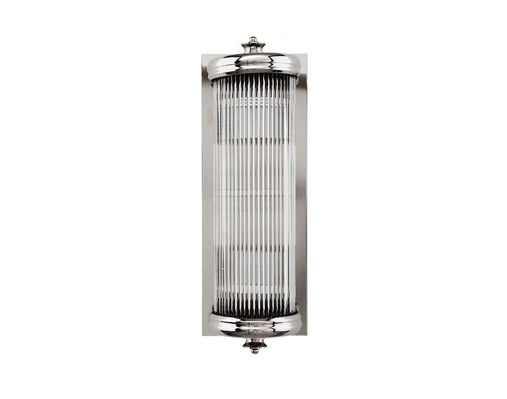 Бра GLORIOUSБра<br>Бра Glorious с металлическим основанием никелевого цвета. Рифленый стеклянный плафон закрывает лампы.<br>Количество лампочек: 1<br>Мощность: 1x 40 Вт<br>Тип лампы: НАКАЛИВАНИЯ, E27<br><br>kit: None<br>gender: None