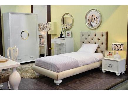Кровать полутораспальная palermo (fratelli barri) бежевый 143x132x220 см.