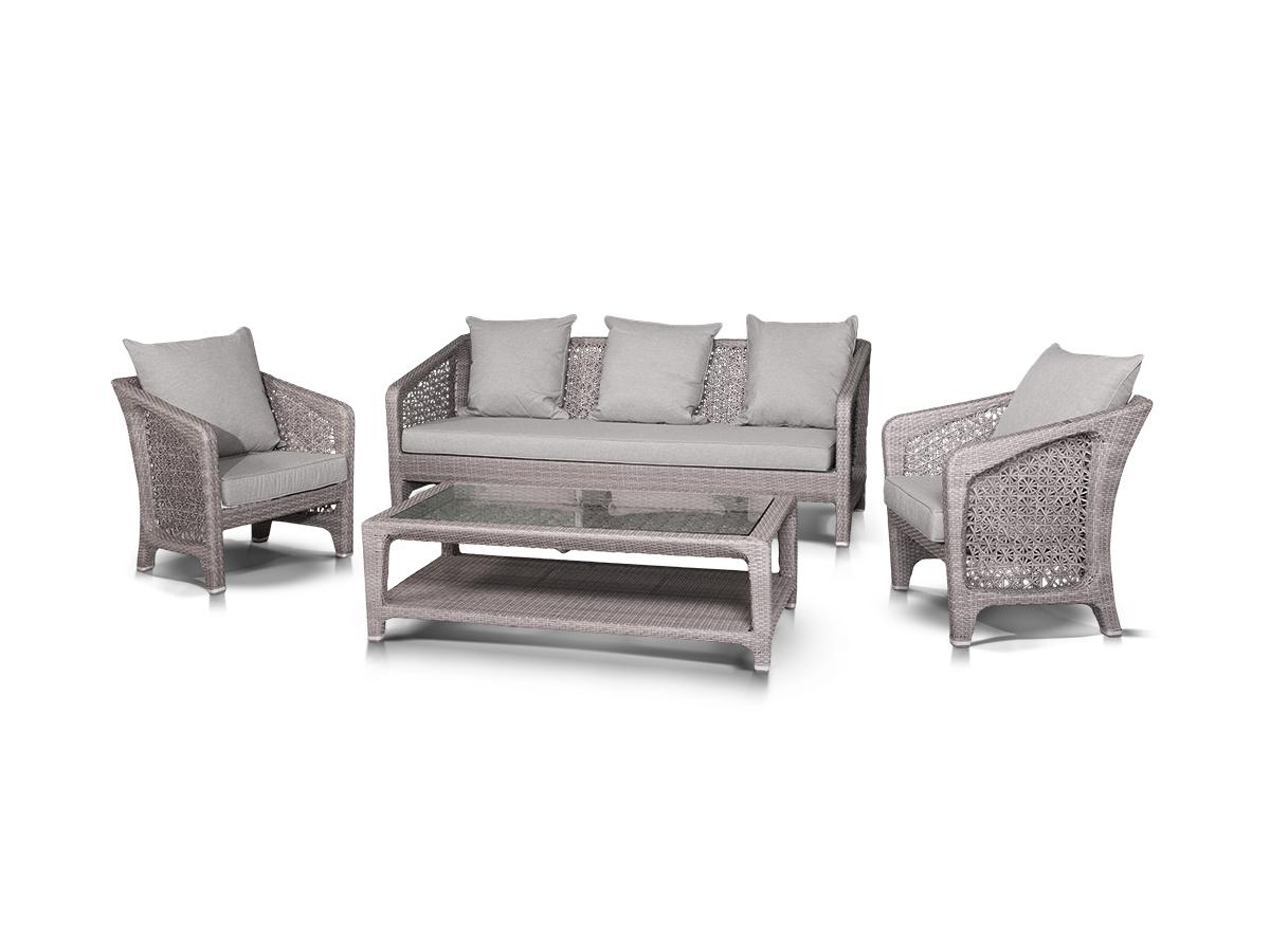 Лаунж зона ЛаброКомплекты уличной мебели<br>&amp;lt;div&amp;gt;&amp;lt;span style=&amp;quot;font-size: 14px;&amp;quot;&amp;gt;Лаунж зона из искусственного ротанга: 1 трехместный диван, 2 кресла и кофейный столик со стеклянной столешницей. Стол оборудован полкой для хранения газет и журналов. Алюминиевый каркас, искусственный ротанг, ручное плетение. Диван и кресла оснащены подушками со съемными чехлами.&amp;amp;nbsp;&amp;lt;/span&amp;gt;&amp;lt;br&amp;gt;&amp;lt;/div&amp;gt;&amp;lt;div&amp;gt;&amp;lt;br&amp;gt;&amp;lt;/div&amp;gt;&amp;lt;div&amp;gt;Размеры:&amp;lt;/div&amp;gt;&amp;lt;div&amp;gt;Диван: 206х88х81 см.&amp;amp;nbsp;&amp;lt;/div&amp;gt;&amp;lt;div&amp;gt;Кресло: 73х71х77 см.&amp;amp;nbsp;&amp;lt;/div&amp;gt;&amp;lt;div&amp;gt;Кофейный столик: 130х67х45 см.&amp;lt;/div&amp;gt;<br><br>Material: Искусственный ротанг