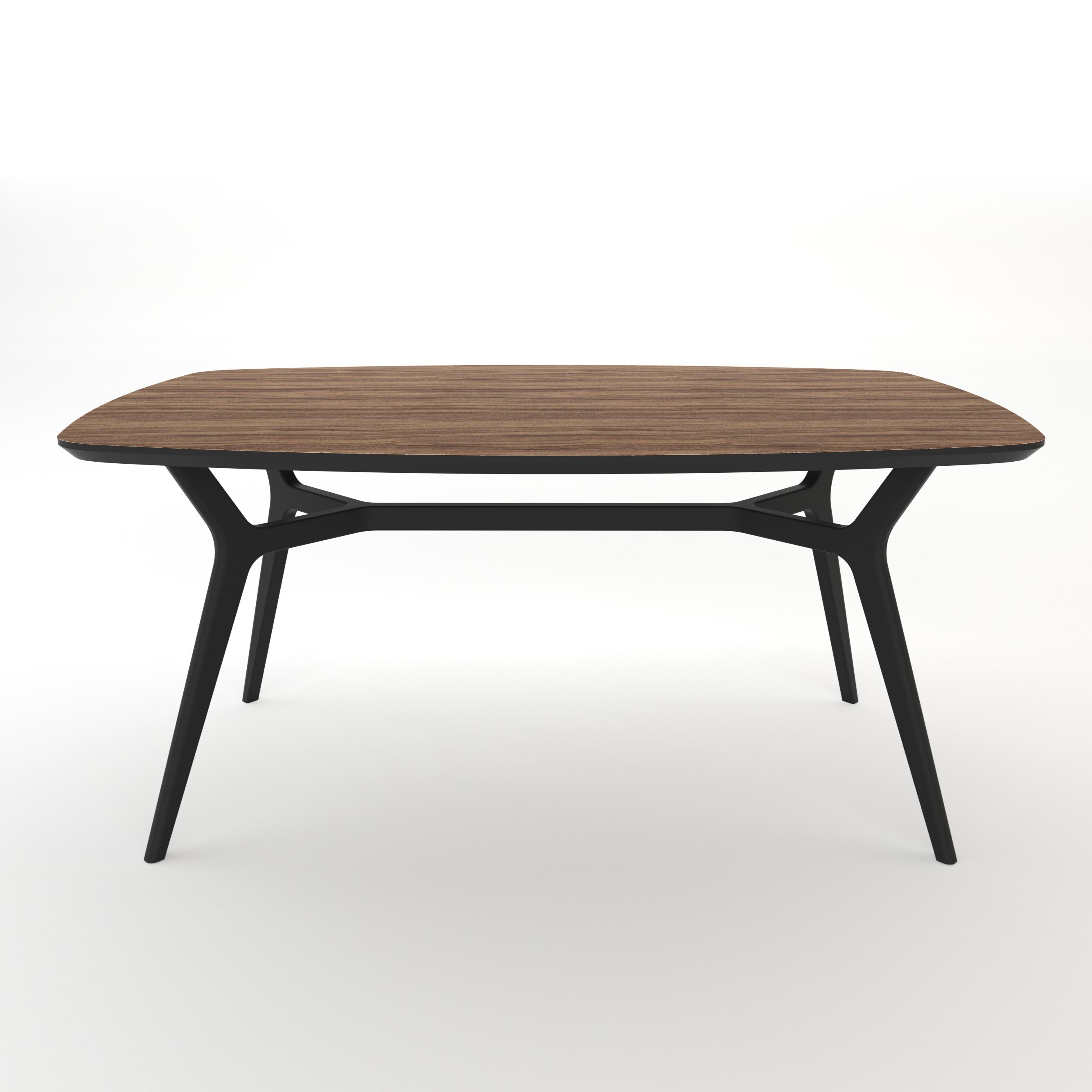 Стол JohannОбеденные столы<br>Тщательная проработка деталей и пропорций стола позволяет ему идеально вписаться в любой интерьер.&amp;amp;nbsp;&amp;lt;div&amp;gt;Отделка столешницы шпоном ореха, подстолье выкрашено в  цвет графит. Сборка не требуется. &amp;lt;/div&amp;gt;<br><br>Material: МДФ<br>Ширина см: 140.0<br>Высота см: 75.0<br>Глубина см: 80.0