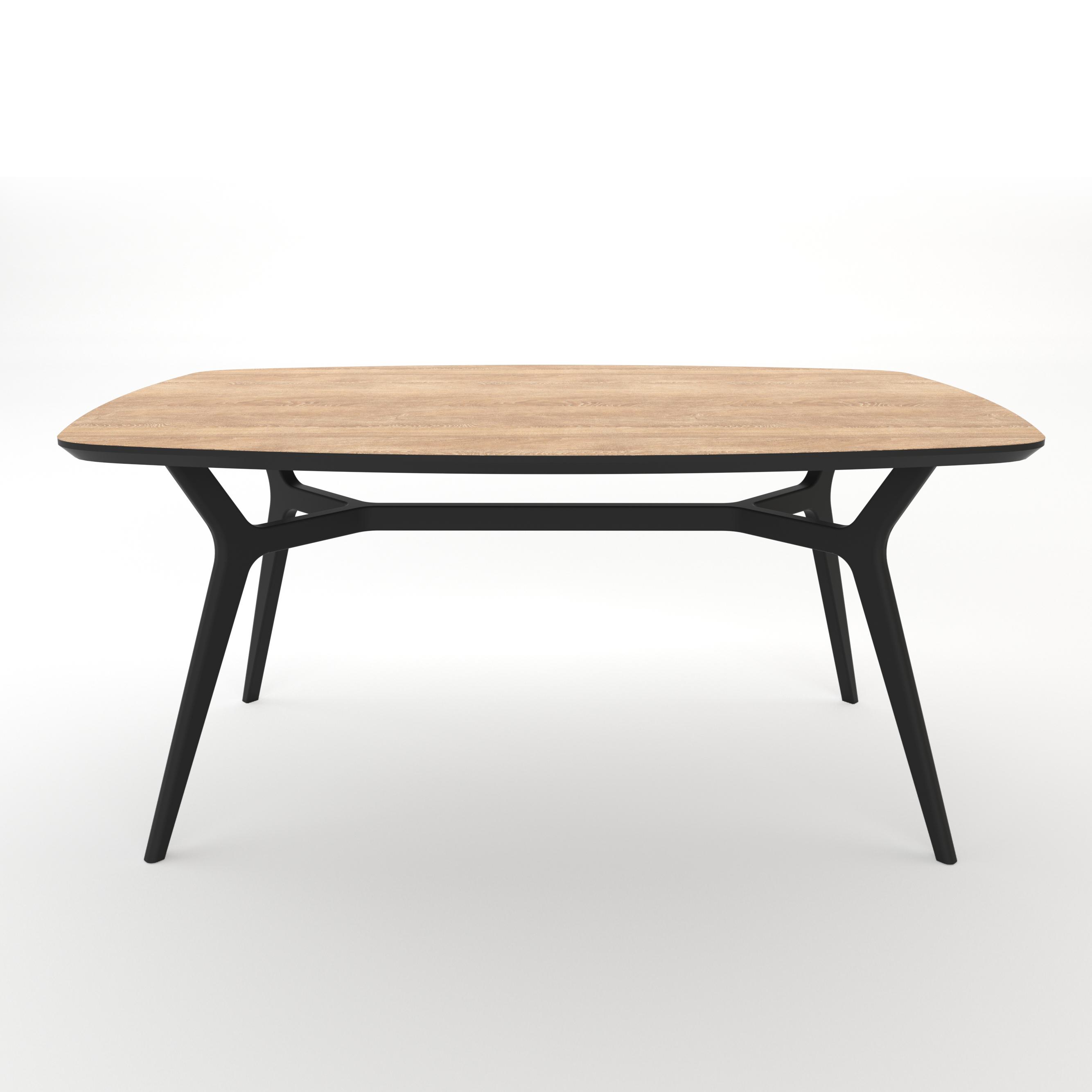 Стол JohannОбеденные столы<br>Тщательная проработка деталей и пропорций стола позволяет ему идеально вписаться в любой интерьер.&amp;lt;div&amp;gt;&amp;lt;br&amp;gt;&amp;lt;/div&amp;gt;&amp;lt;div&amp;gt;Отделка столешницы шпоном дуба, подстолье выкрашено в цвет графит. Сборка не требуется.&amp;lt;/div&amp;gt;<br><br>Material: МДФ<br>Ширина см: 160<br>Высота см: 75<br>Глубина см: 80