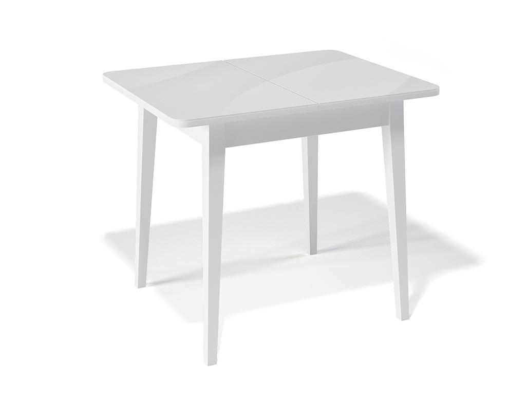 Стол обеденный KennerОбеденные столы<br>Стол для гостиной &amp;quot;Kenner 900 М&amp;quot; белый/стекло белое. Ножки стола выполнены из массива бука, столешница - ДСП+стекло 4мм. Механизм раскладки: синхронный, легкого скольжения. На ножках установлены регулировочные винты. Требует сборки, фурнитура в комплекте. Стол раскладной,вставка &amp;quot;бабочка&amp;quot; со стеклом. Размер столешницы в разложенном виде: 120х70 см.<br><br>Material: Дерево<br>Ширина см: 90.0<br>Высота см: 75.0<br>Глубина см: 70.0