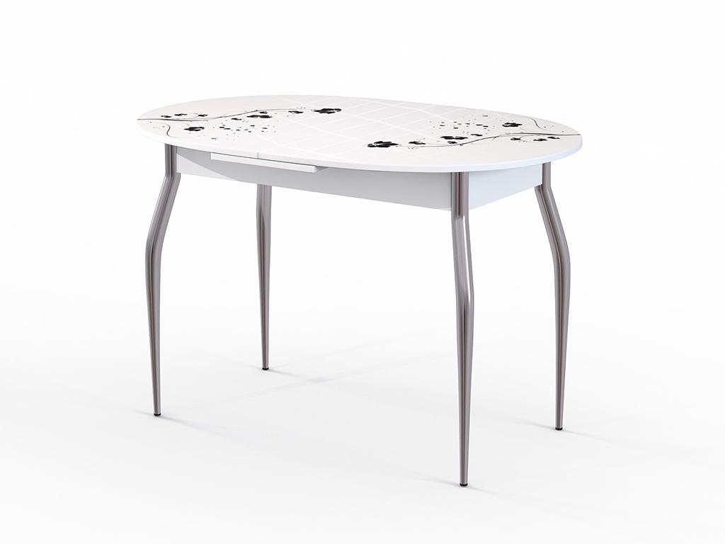 Стол обеденный ФелицияОбеденные столы<br>Красивый стол для кухни или гостиной &amp;quot;Фелиция&amp;quot; стекло белое. Ножки - хромированный металл, столешница: МДФ + каленое стекло 4 мм. Механизм раскладки: микролифт.Стол требует сборки, фурнитура в комплекте. Габариты столешницы в разложенном виде: 150х80 см.<br><br>Material: Дерево<br>Ширина см: 120<br>Высота см: 75<br>Глубина см: 80
