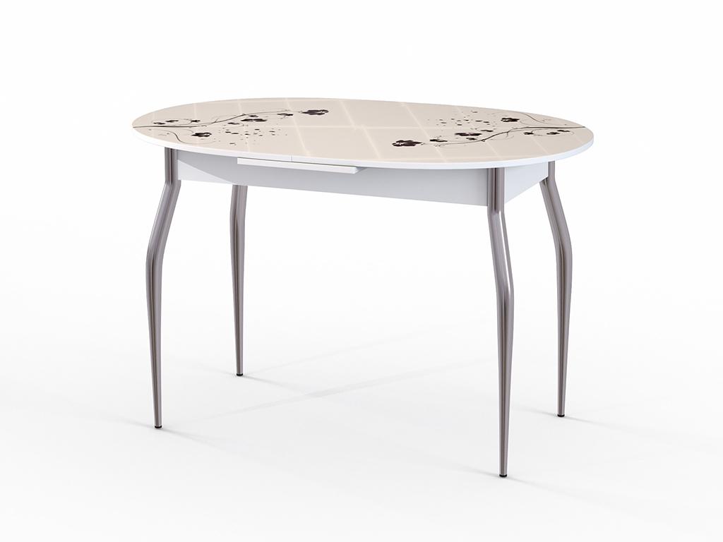 Стол обеденный ФелицияОбеденные столы<br>Красивый стол для кухни или гостиной &amp;quot;Фелиция&amp;quot; стекло беж. Ножки - хромированный металл, столешница: МДФ + каленое стекло 4 мм. Механизм раскладки: микролифт.Стол требует сборки, фурнитура в комплекте. Габариты столешницы в разложенном виде: 150х80 см.<br><br>Material: Дерево<br>Ширина см: 120.0<br>Высота см: 75.0<br>Глубина см: 80.0
