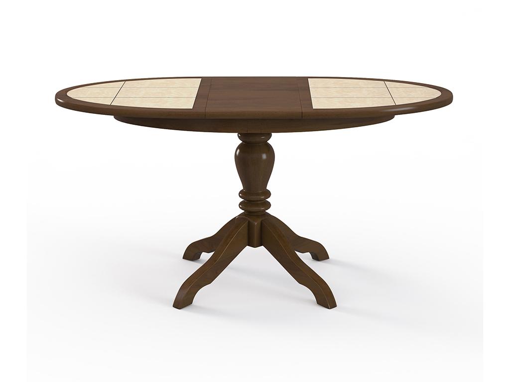 Стол обеденный РомеоОбеденные столы<br>Красивый стол для кухни &amp;quot;Ромео&amp;quot;дуб, плитка радиусная. Ножка стола выполнена из массива бука, столешница: МДФ, покрыта натуральным шпоном и отделана керамической плиткой.Механизм: раздвижной. Стол требует сборки, фурнитура в комплекте. Стол раскладной. Габариты стоешницы в разложенном виде: 150х70 см.<br><br>Material: Дерево<br>Ширина см: 116.0<br>Высота см: 75.0<br>Глубина см: 70.0