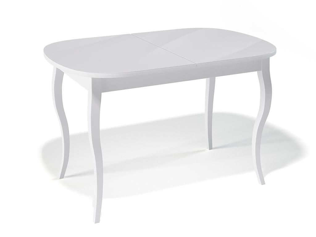 Стол обеденный KennerОбеденные столы<br>Стол для гостиной &amp;quot;Kenner 1300 С&amp;quot; белый/стекло белое. Ножки стола выполнены из массива бука, столешница - ДСП+стекло 4мм. Механизм раскладки: синхронный, легкого скольжения. На ножках установлены регулировочные винты. Требует сборки, фурнитура в комплекте. Стол раскладной,вставка &amp;quot;бабочка&amp;quot; со стеклом. Размер столешницы в разложенном виде: 170х80 см.<br><br>Material: Дерево<br>Width см: 130<br>Depth см: 80<br>Height см: 75