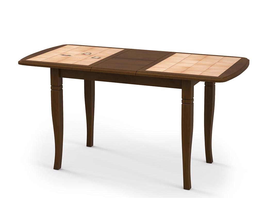 Стол обеденный ДоминоОбеденные столы<br>Красивый стол для кухни &amp;quot;Домино-3О&amp;quot; дуб, плитка Трапеза. Ножки стола выполнены из массива бука, столешница: МДФ, покрыта натуральным шпоном и отделана керамической плиткой.Механизм: раздвижной. Стол требует сборки, фурнитура в комплекте. Стол раскладной. Габариты стоешницы в разложенном виде: 144х70 см.<br><br>Material: Дерево<br>Ширина см: 117.0<br>Высота см: 75.0<br>Глубина см: 70.0