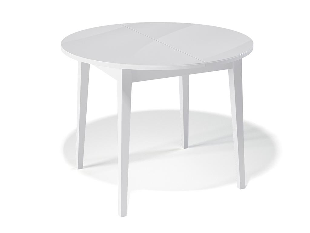 Стол обеденный KennerОбеденные столы<br>Стол для гостиной  &amp;quot;Kenner 1000 М&amp;quot; белый/стекло белое. Ножки стола выполнены из массива бука, столешница - ДСП+стекло 4мм. Механизм раскладки: синхронный, легкого скольжения. На ножках установлены регулировочные винты. Требует сборки, фурнитура в комплекте. Стол раскладной,вставка &amp;quot;бабочка&amp;quot; со стеклом. Размер столешницы в разложенном виде: 130х100 см.<br><br>Material: Дерево<br>Ширина см: 100<br>Высота см: 75<br>Глубина см: 100