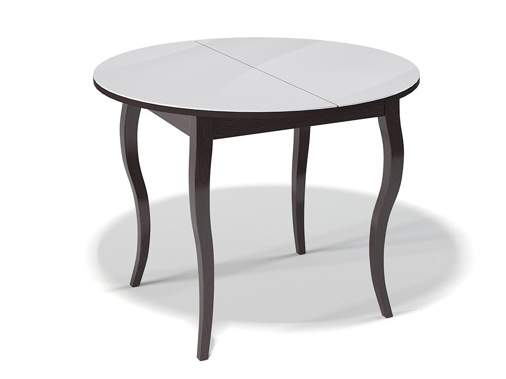 Стол обеденный KennerОбеденные столы<br>Стол для гостиной &amp;quot;Kenner 1000 С&amp;quot; венге/стекло белое. Ножки стола выполнены из массива бука, столешница - ДСП+стекло 4мм. Механизм раскладки: синхронный, легкого скольжения. На ножках установлены регулировочные винты. Требует сборки, фурнитура в комплекте. Стол раскладной,вставка &amp;quot;бабочка&amp;quot; со стеклом. Размер столешницы в разложенном виде: 130х100 см.<br><br>Material: Дерево<br>Ширина см: 100.0<br>Высота см: 75.0<br>Глубина см: 100.0