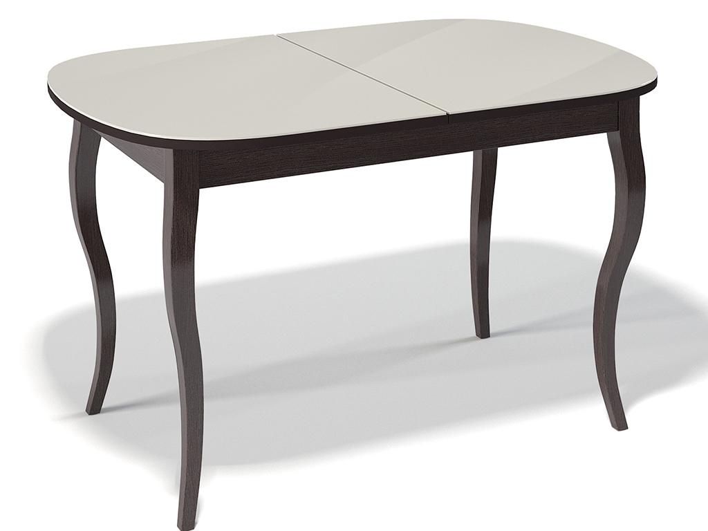 Стол обеденный KennerОбеденные столы<br>Стол для гостиной &amp;quot;Kenner 1300 С&amp;quot; венге/стекло крем. Ножки стола выполнены из массива бука, столешница - ДСП+стекло 4мм. Механизм раскладки: синхронный, легкого скольжения. На ножках установлены регулировочные винты. Требует сборки, фурнитура в комплекте. Стол раскладной,вставка &amp;quot;бабочка&amp;quot; со стеклом. Размер столешницы в разложенном виде: 170х80 см.<br><br>Material: Дерево<br>Ширина см: 130<br>Высота см: 75<br>Глубина см: 80