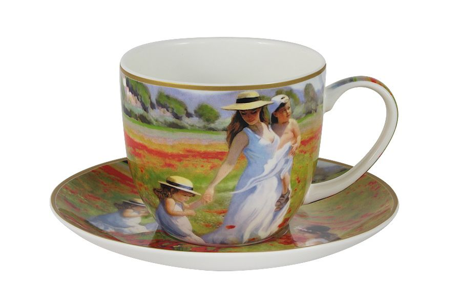 Чашка с блюдцем Прогулка в полеЧайные пары, чашки и кружки<br><br><br>Material: Фарфор