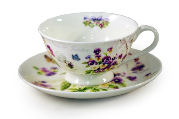 Чашка с блюдцем ВиолаЧайные пары, чашки и кружки<br><br><br>Material: Фарфор