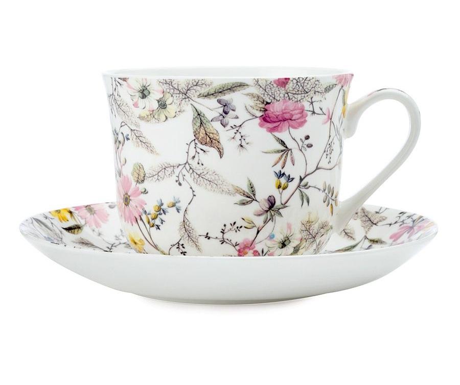 Чашка с блюдцем ЦветениеЧайные пары, чашки и кружки<br><br><br>Material: Фарфор