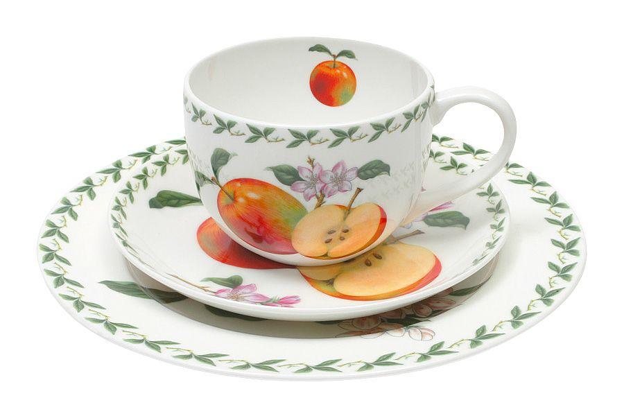 Чашка с блюдцем ЯблокоЧайные пары, чашки и кружки<br><br><br>Material: Фарфор