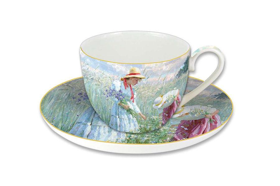 Чашка с блюдцем ВасилькиЧайные пары, чашки и кружки<br><br><br>Material: Фарфор