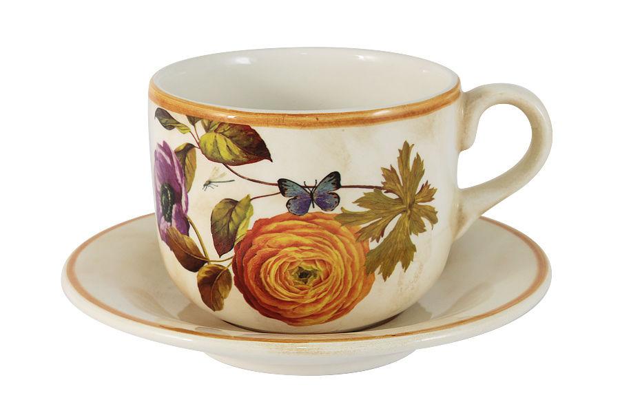 Чашка с блюдцем ЭлегансЧайные пары, чашки и кружки<br><br><br>Material: Керамика