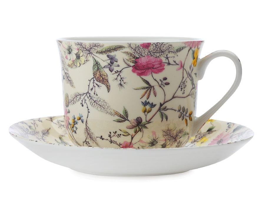 Чашка с блюдцем Летние цветыЧайные пары, чашки и кружки<br><br><br>Material: Фарфор