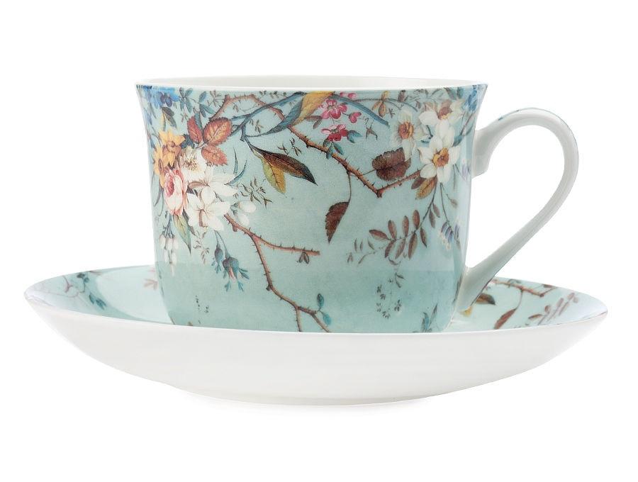Чашка с блюдцем ЛугЧайные пары, чашки и кружки<br><br><br>Material: Фарфор