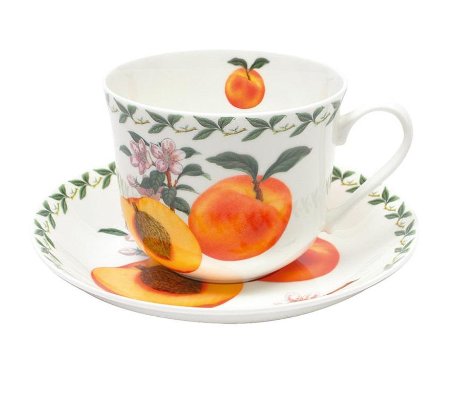 Чашка с блюдцем АбрикосЧайные пары, чашки и кружки<br><br><br>Material: Фарфор