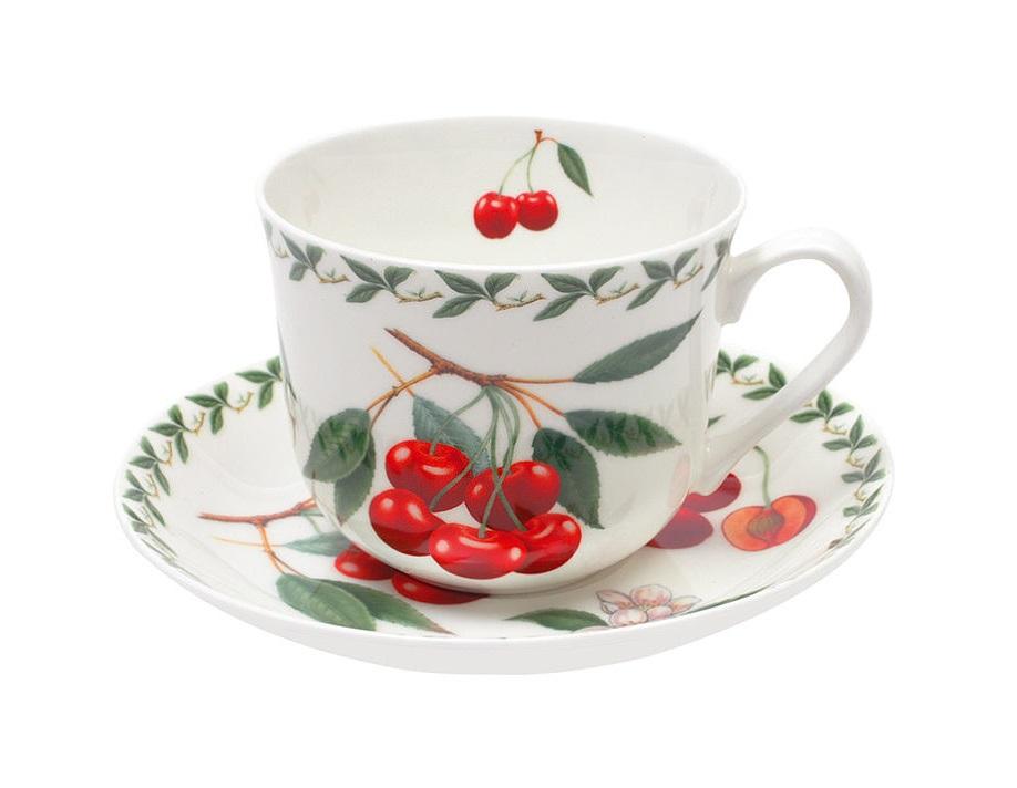 Чашка с блюдцем ВишняЧайные пары, чашки и кружки<br><br><br>Material: Фарфор