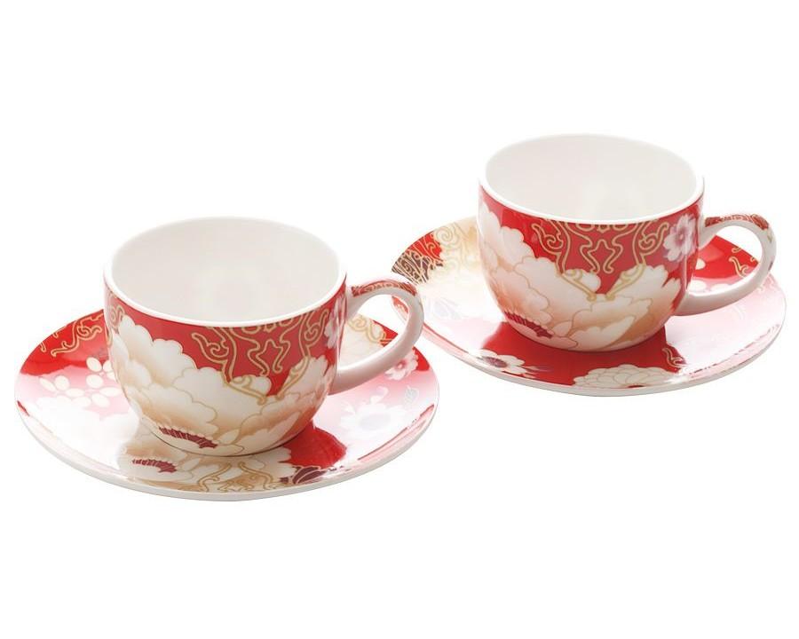 Чашки с блюдцами Кимоно (2шт.)Чайные пары, чашки и кружки<br>Объем: 0,1л.<br><br>Material: Фарфор