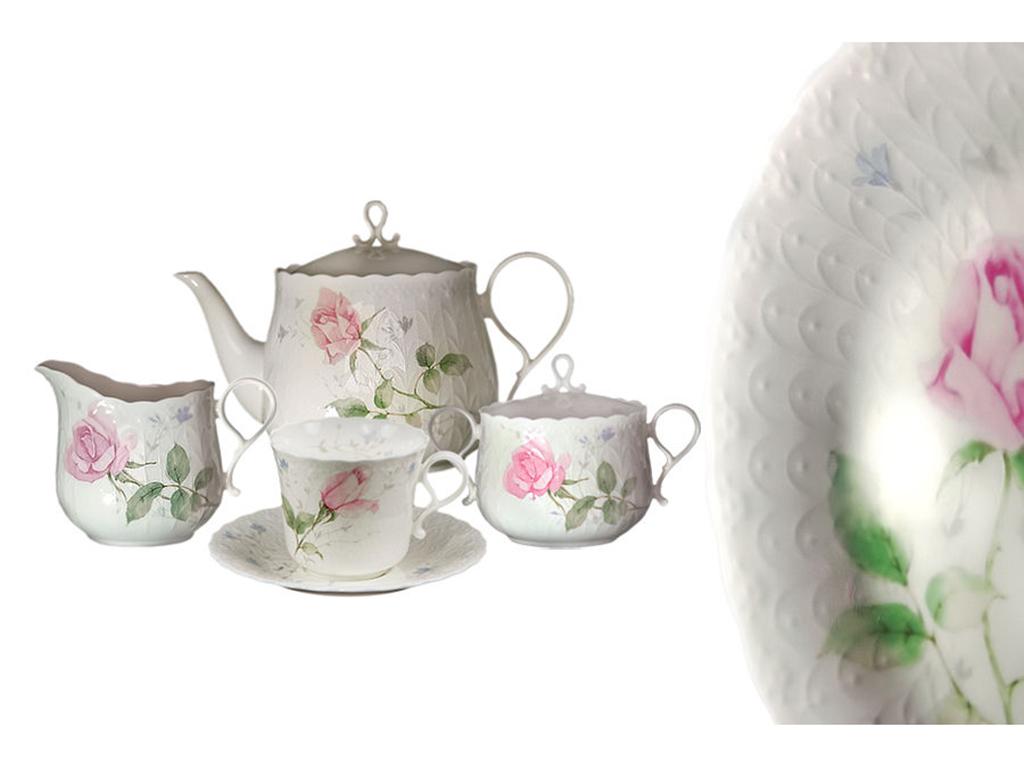 Чайный сервиз 17 предметов на 6 пресон