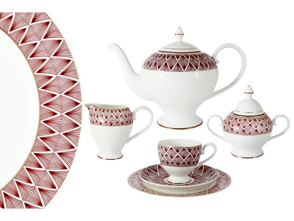 Emily Чайный сервиз 21 предмет на 6 персон  Фортуна emily чайный сервиз 21 предмет на 6 персон венеция