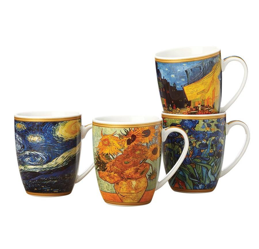Набор кружек Ван Гог (4шт.)Чайные пары, чашки и кружки<br><br><br>Material: Фарфор