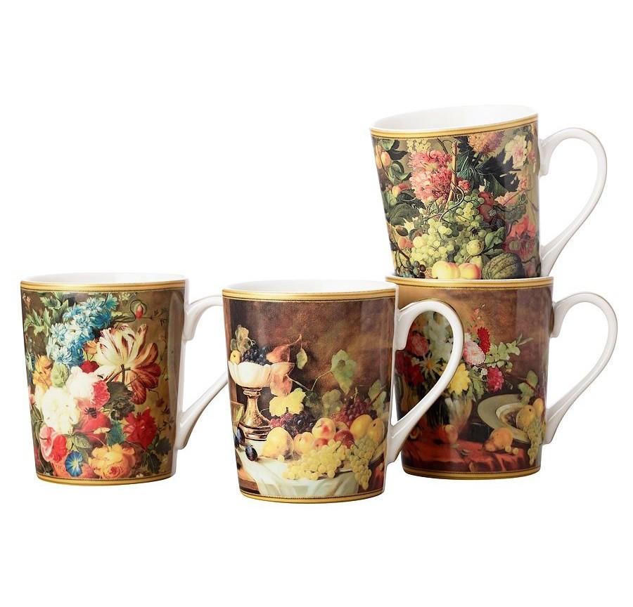 Набор кружек Ван Бруссел (4шт.)Чайные пары, чашки и кружки<br><br><br>Material: Фарфор