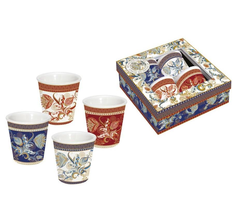 Набор кружек Шангри-Ла (4шт.)Чайные пары, чашки и кружки<br>Объем: 0,08л.<br><br>Material: Фарфор