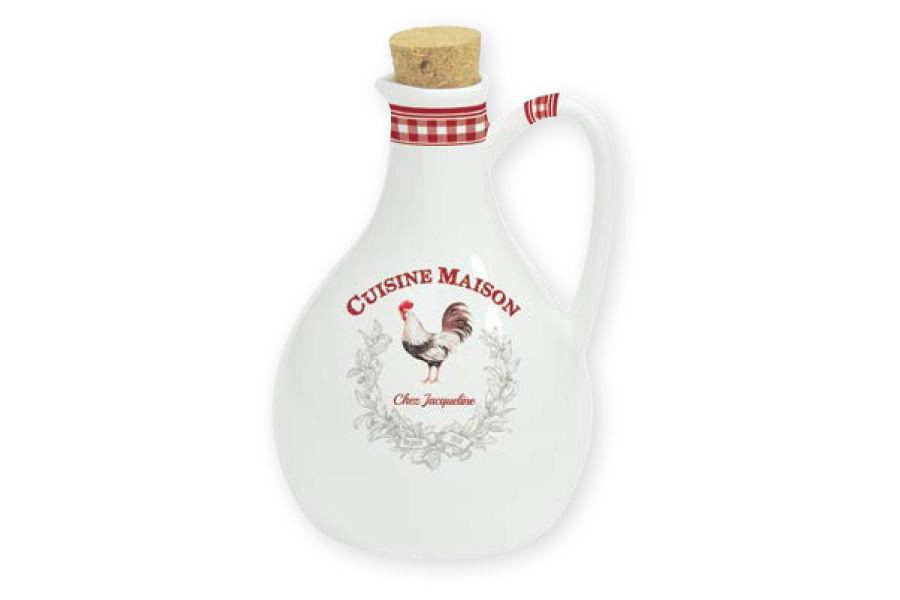 Бутылка для масла Французская кухняБутылки<br>Объем: 0,5л.<br><br>Material: Фарфор<br>Высота см: 10