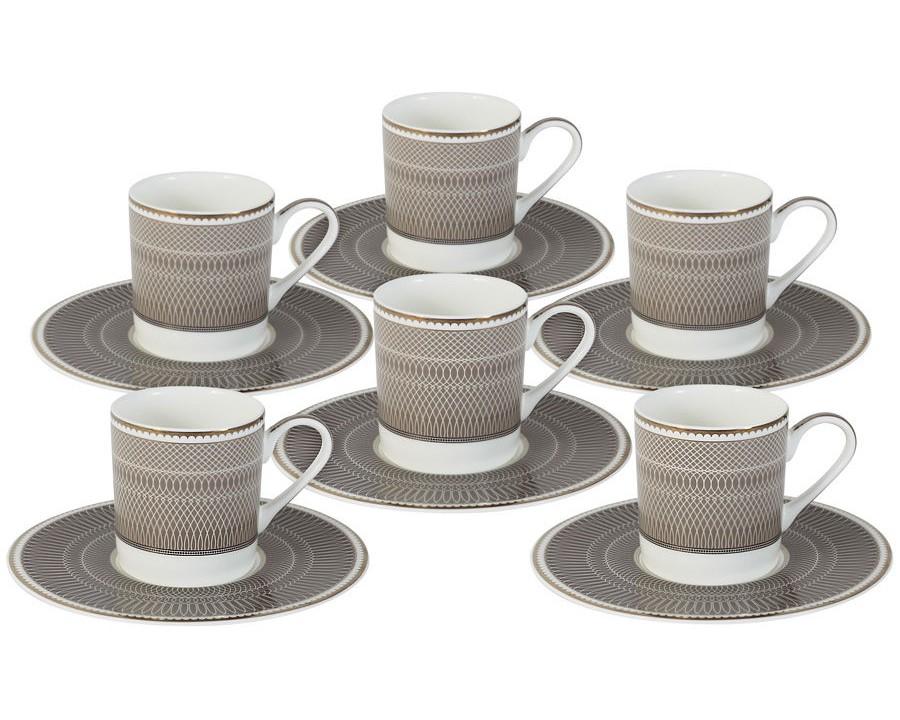 Кофейный набор Мокко (6шт.)Чайные пары, чашки и кружки<br>Объем: 0,1л.<br><br>Material: Фарфор<br>Высота см: 7