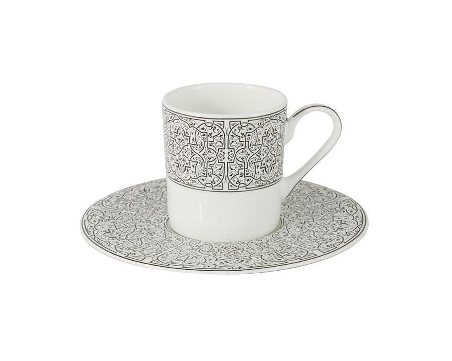 Кофейный набор Серебряный дворец (6шт.)Чайные пары, чашки и кружки<br>Объем: 0,1л.<br><br>Material: Фарфор<br>Height см: 7