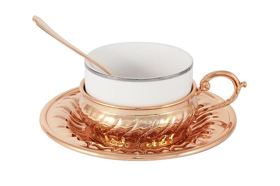 Чайный набор StradivariЧайные пары, чашки и кружки<br>В комплекте: 1 чашка 0.15л, 1 блюдце, 1 ложка.<br><br>Material: Фарфор