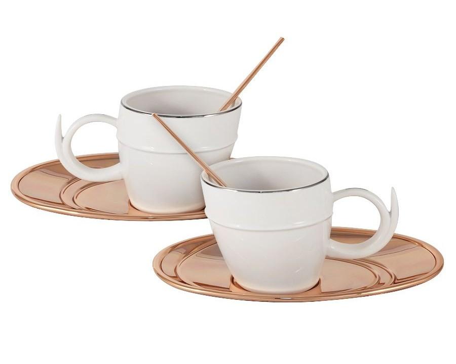 Чайный набор Ричоло (2шт.)Чайные пары, чашки и кружки<br>В комплекте: 2чашки 0,2л, 2 блюдца, 2 ложки.<br><br>kit: None<br>gender: None