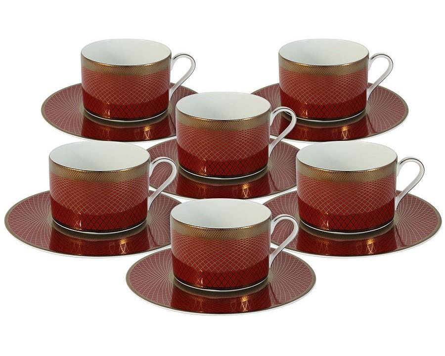 Чайный набор Кармен (6шт.)Чайные пары, чашки и кружки<br>Объем: 0,25л.<br><br>Material: Фарфор<br>Height см: 7