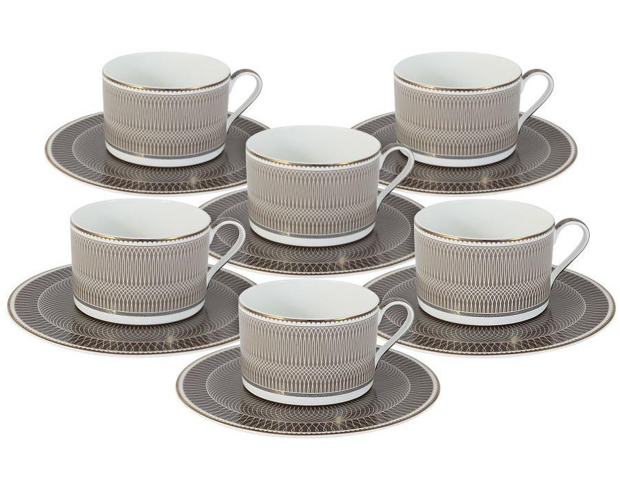 Чайный набор Мокко (6шт.)Чайные пары, чашки и кружки<br>Объем: 0,25л.<br><br>Material: Фарфор<br>Высота см: 7