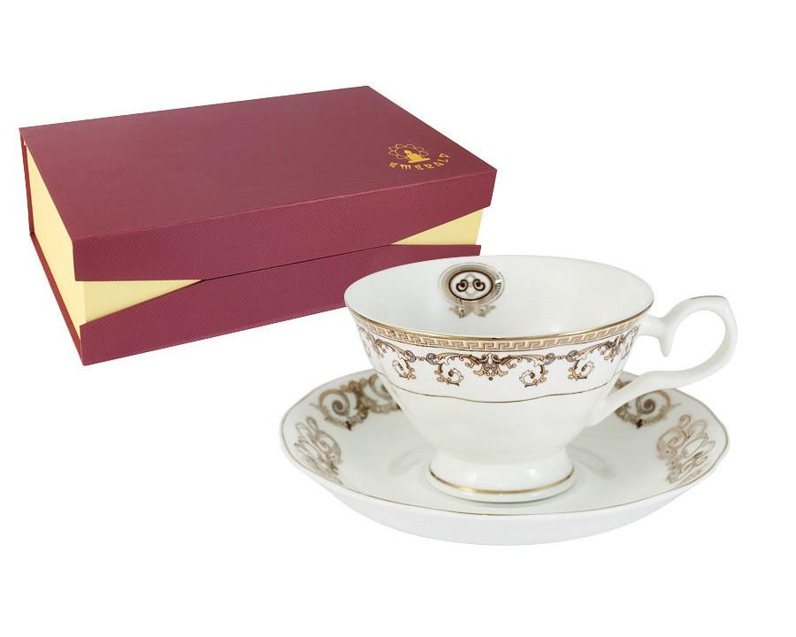 Набор чашек Версаче Золотой (6шт.)Чайные пары, чашки и кружки<br><br><br>Material: Фарфор