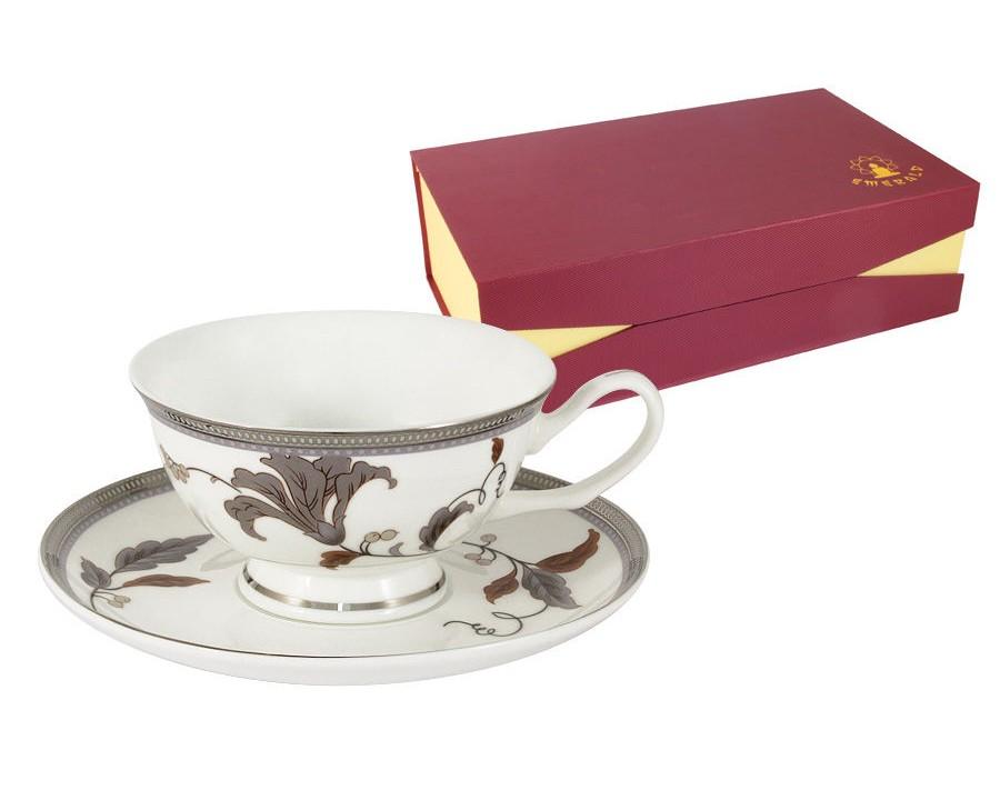 Набор чашек Серебряный лист (6шт.)Чайные пары, чашки и кружки<br><br><br>Material: Фарфор