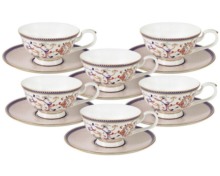 Набор чашек Королева Анна (6шт.)Чайные пары, чашки и кружки<br><br><br>kit: None<br>gender: None