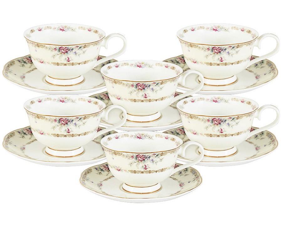 Набор чашек Сан Марино (6шт.)Чайные пары, чашки и кружки<br><br><br>Material: Фарфор