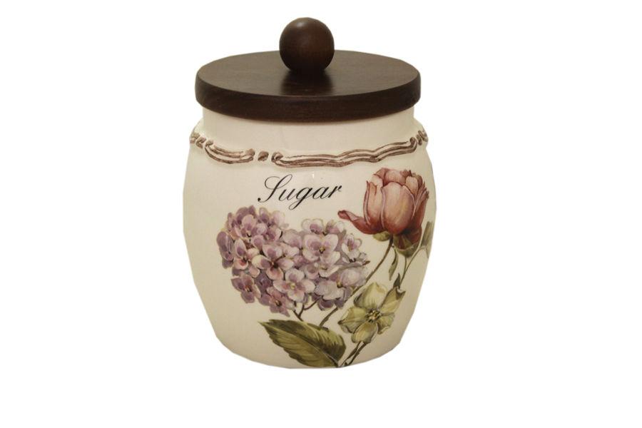 Банка для сахара Сады ФлоренцииЕмкости для хранения<br>Объем: 1,2л.<br><br>Material: Керамика<br>Высота см: 17