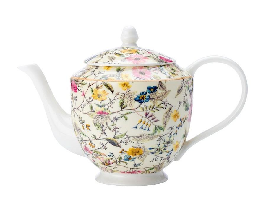 Чайник Летние цветыЧайники<br>Объем: 1л.<br><br>Material: Фарфор