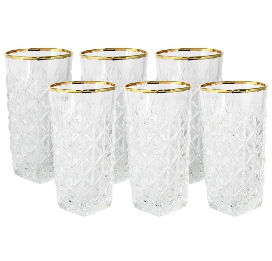 Стаканы для для воды Энигма (6шт.)Стаканы<br>Объем: 0,35л.<br><br>Material: Стекло<br>Высота см: 15
