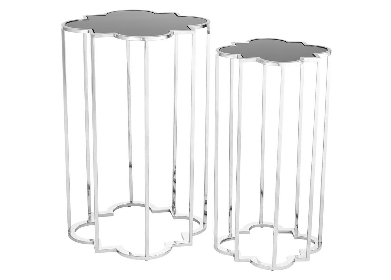 Комплект столиков Concentric (2 шт)Приставные столики<br>Комплект из двух столиков &amp;quot;Concentric&amp;quot; изготовлен из полированной нержавеющей стали. Столешницы из плотного стекла черного цвета.&amp;lt;div&amp;gt;&amp;lt;br&amp;gt;&amp;lt;/div&amp;gt;&amp;lt;div&amp;gt;&amp;lt;div&amp;gt;Размер большого столика: 60 х 40 х 40 см&amp;lt;/div&amp;gt;&amp;lt;div&amp;gt;Размер маленького столика: 55 х 30 х 30 см&amp;lt;/div&amp;gt;&amp;lt;/div&amp;gt;<br><br>Material: Металл