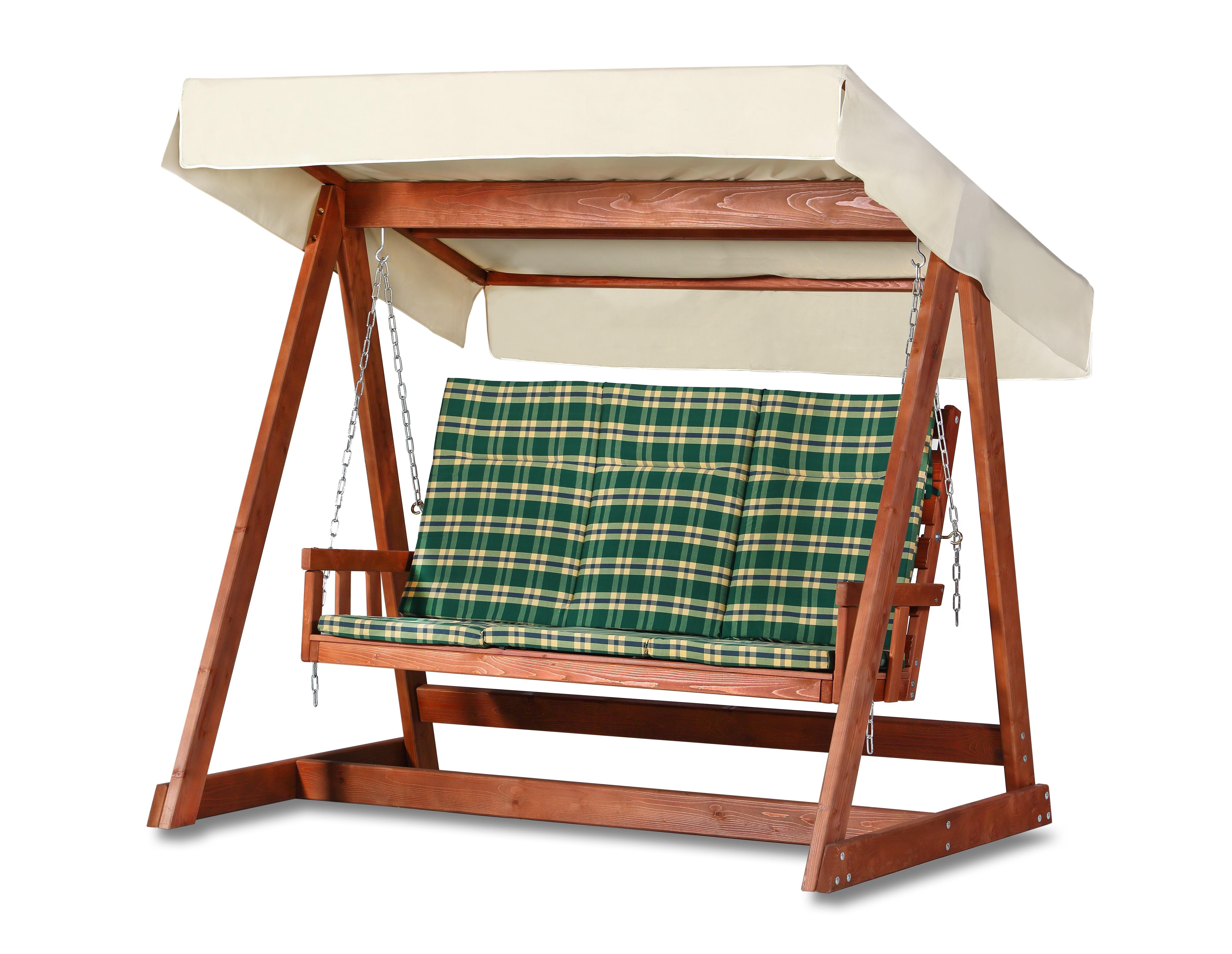 Качели ГлорияКачели<br>Каркас из натуральной древесины хвойных пород.&amp;amp;nbsp;&amp;lt;div&amp;gt;Подвесная скамья на цепи.&amp;amp;nbsp;&amp;lt;/div&amp;gt;&amp;lt;div&amp;gt;&amp;lt;br&amp;gt;&amp;lt;/div&amp;gt;&amp;lt;div&amp;gt;Навес и матрац приобретаются отдельно.&amp;lt;/div&amp;gt;<br><br>Material: Дерево<br>Ширина см: 265<br>Высота см: 215<br>Глубина см: 221