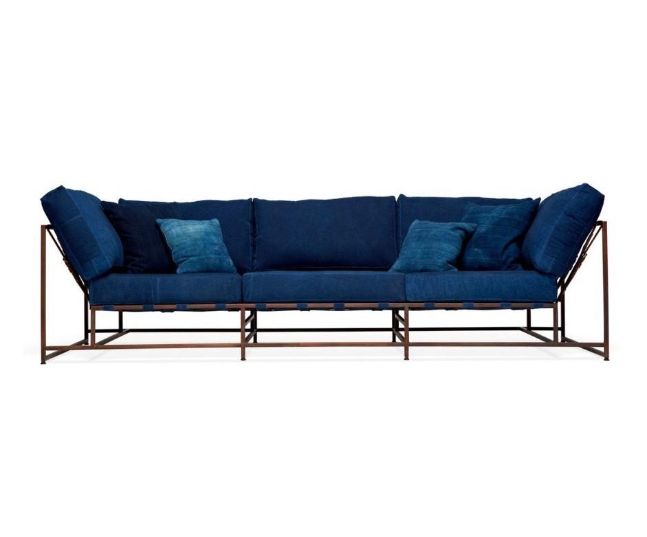 Трехместный диван ДэнимДиваны четырехместные и более<br>&amp;lt;div&amp;gt;Комфорт и качество – это главные критерии при изготовлении мебели фабрики &amp;quot;The_Sofa&amp;quot;. Диваны и кресла линейки &amp;quot;Дэним&amp;quot; удобны и просты в эксплуатации, изготовлены из натуральных материалов. Исключительно ручная работа на всех этапах производства. Простота конструкции дивана, выполненного в стиле лофт, делает его не только привлекательным на вид, но и очень надежным, исключает неудобства при уборке в помещении, и позволяет с легкостью удалять скапливающуюся под ним пыль. Поддерживающие ремни выполнены из высококачественной, износостойкой, ременной, натуральной кожи. Наши диваны и кресла существенно легки, по сравнению с любыми другими диванами и креслами, такой же посадки (двух, трёх местными), что позволяет без труда перемещать их, в случае необходимости.&amp;amp;nbsp;&amp;lt;/div&amp;gt;&amp;lt;div&amp;gt;&amp;lt;br&amp;gt;&amp;lt;/div&amp;gt;&amp;lt;div&amp;gt;Металлическая рама окрашивается порошковым составом и имеет матовое покрытие. Обволакивающая спинка для дополнительной поддержки спины. Обивка изготовлена из высокопрочного и износостойкого материала. Каждый диван проходит несколько ступеней проверки качества, перед отправкой покупателю. Современный дизайн и не обычная конструкция, подчеркнет ваш изысканный вкус и чувство стиля, а возможность применять абсолютно любые цвета обивки, разнообразный материал обивки и возможность изменения цвета каркаса, позволит гармонично вписать продукцию &amp;quot;The_Sofa&amp;quot; в абсолютно любой интерьер.&amp;amp;nbsp;&amp;lt;/div&amp;gt;&amp;lt;div&amp;gt;&amp;lt;br&amp;gt;&amp;lt;/div&amp;gt;&amp;lt;div&amp;gt;В комплект входят 8 подушек, металлокаркас, 20 ремней.&amp;lt;/div&amp;gt;<br><br>Material: Текстиль<br>Ширина см: 263<br>Высота см: 63<br>Глубина см: 90