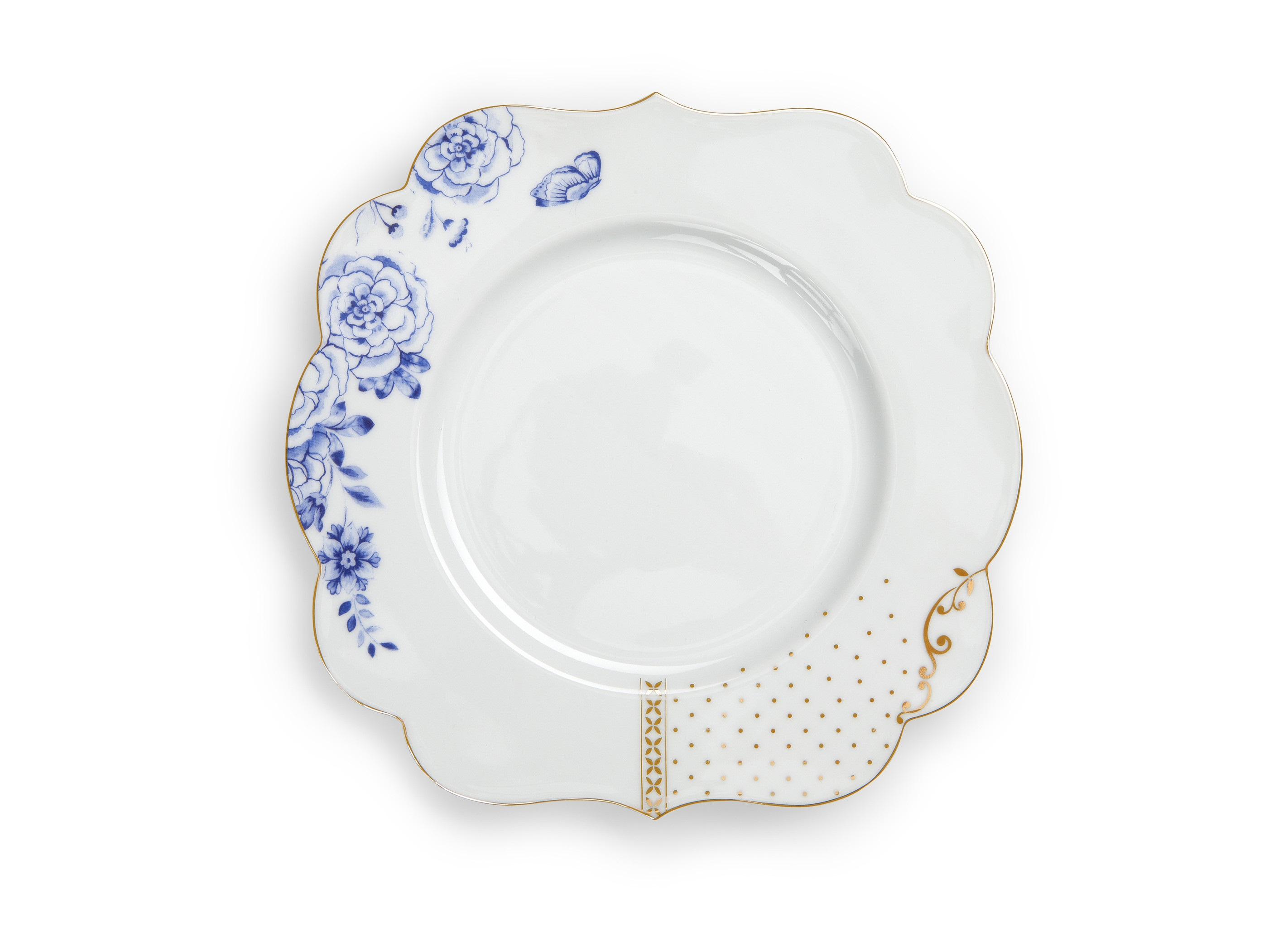 Набор тарелок Royal White (2шт)Тарелки<br>Не использовать в микроволновой печи. Не рекомендуется мыть в посудомоечной машине. Коллекция Royal White появилась в 2015 году. Изготовленная из такого же изысканного фарфора, коллекция Royal White представляет собой более спокойную версию коллекции Royal. Декор состоит из нежных синих и золотых цветочных орнаментов в сочетании с золотыми графическими элементами на белом фоне, каждый из которых можно также увидеть на предметах коллекции Royal. Таким образом, коллекции Royal и Royal White идеально дополняют друг друга. Коллекция Royal White также включает в себя изысканные бокалы.<br><br>Material: Фарфор<br>Высота см: 2