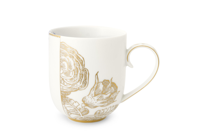 Набор больших кружек Royal White (2шт)Чайные пары, чашки и кружки<br>Объём 325 мл. Не использовать в микроволновой печи. Не рекомендуется мыть в посудомоечной машине.<br><br>Material: Фарфор<br>Высота см: 9